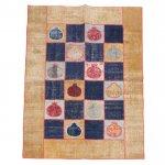 【即納商品】 トルコ絨毯 パッチワークラグ オールドカーペット191cm×144cm