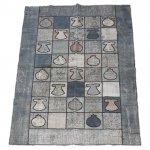 【即納商品】 トルコ絨毯 パッチワークラグ オールドカーペット239cm×168cm