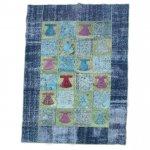 【即納商品】 トルコ絨毯 パッチワークラグ オールドカーペット191cm×143cm