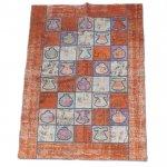 【即納商品】 トルコ絨毯 パッチワークラグ オールドカーペット237cm×168cm