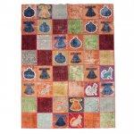 【即納商品】 トルコ絨毯 パッチワークラグ オールドカーペット188cm×143cm