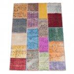 【即納商品】 トルコ絨毯 パッチワークラグ アナトリア オールドカーペット 270cm×171cm