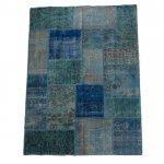 【即納商品】 トルコ絨毯 パッチワークラグ アナトリア オールドカーペット 234cm×160cm
