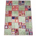 【即納商品】 トルコ絨毯 パッチワークラグ オールドカーペット238cm×190cm
