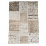 トルコ絨毯 パッチワークラグ アナトリア オールドカーペット 173cm×110cm【即納商品】