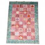 【即納商品】 トルコ絨毯 パッチワークラグ オールドカーペット287cm×193cm