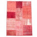 【即納商品】 トルコ絨毯 パッチワークラグ アナトリア オールドカーペット 166cm×110cm