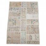 【即納商品】 トルコ絨毯 パッチワークラグ アナトリア オールドカーペット 152cm×99cm