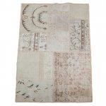 【即納商品】 トルコ絨毯 パッチワークラグ アナトリア オールドカーペット 146cm×94cm