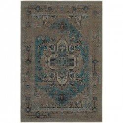 メダリオン柄 男前 ヴィンテージ風ラグ グレーブラウン【Oriental Weavers Revival 4694E Rug】