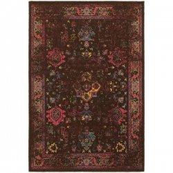 オリエンタル メダリオン柄  ヴィンテージ風ラグ ブラウン【Oriental Weavers Revival 3689I Rug】