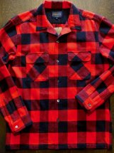 PENDLETON : OPEN COLLAR SHIRT (buffalo check/red)
