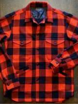PENDLETON : CPO SHIRT JACKET (buffalo check/red)