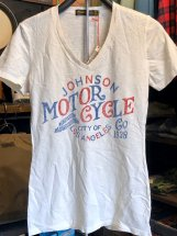 <img class='new_mark_img1' src='//img.shop-pro.jp/img/new/icons48.gif' style='border:none;display:inline;margin:0px;padding:0px;width:auto;' />JOHNSONMOTORS : Womens V-neck Tee (Motor Cycle Co)