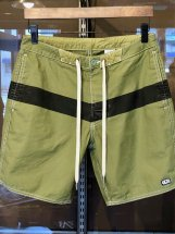 TURN ME ON : BACK SATIN BOARD SHORTS (army green)