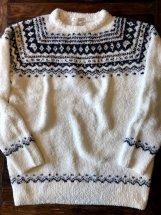 Hub & Spoke :【Birvin Uniform】Shaggy Knit Crew (white)
