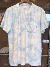 TURN ME ON : Tie-dye 1.5mm Pile S/S-Tee (blue)