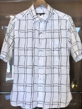 hanakazari : Random Windowpane Print S/S Shirts