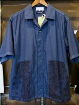 UNIVERSAL STYLE WEAR : HAV-A-HANK Bandana Shirts (navy)