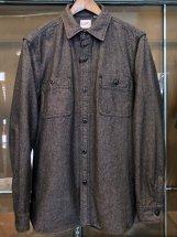 HOUSTON : Solid Viyella Work Shirts (grey)