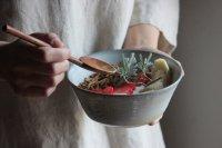 竹下鹿丸 白磁筒鉢