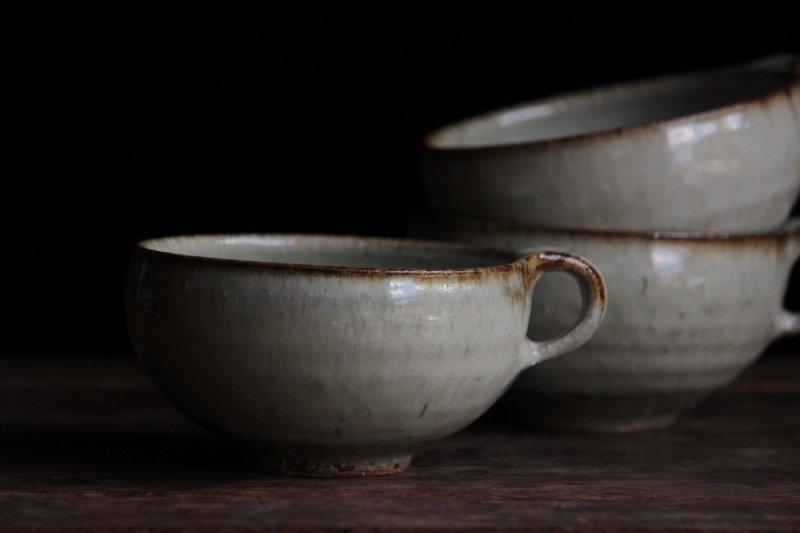 田尾明子 藁灰釉丸スープ碗