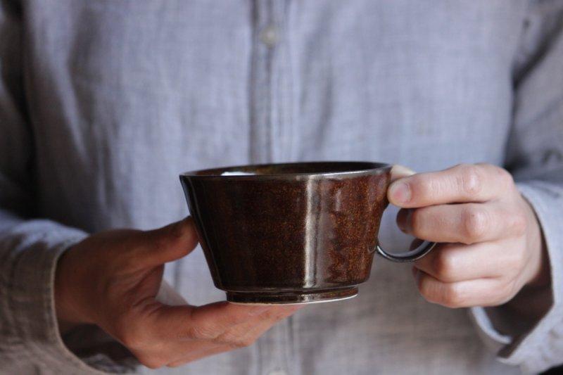 佐々木恒子 スープカップ(茶)