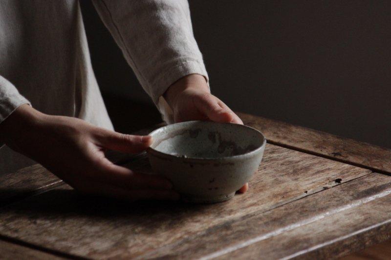 芳賀龍一 粉引碗(白)2