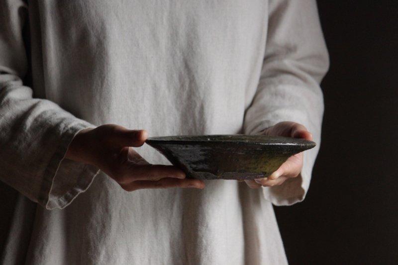 芳賀龍一 鉄釉鉢2