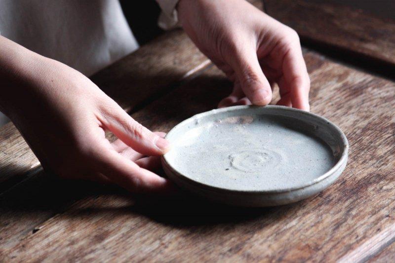 成井窯 縁有り小皿 01