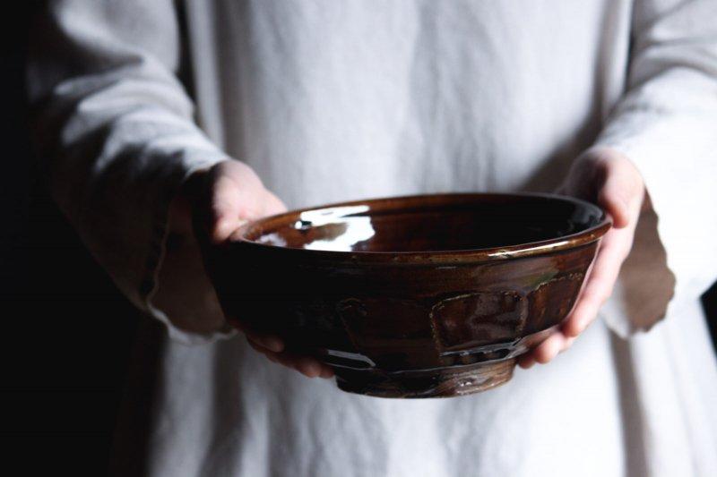 成井窯 面取り鉢 07