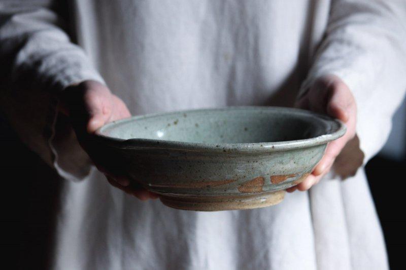 成井窯 縁付浅鉢 01