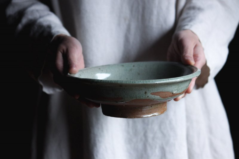 成井窯 縁付浅鉢 02
