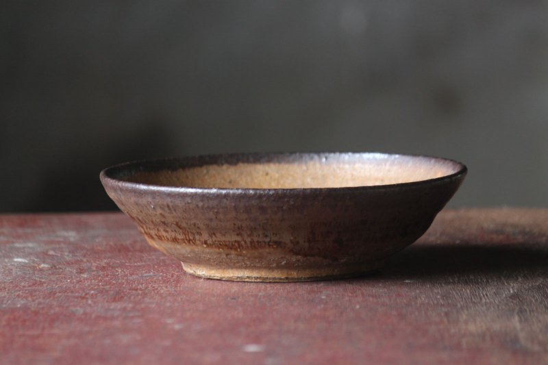 落ち葉釉8寸鉢