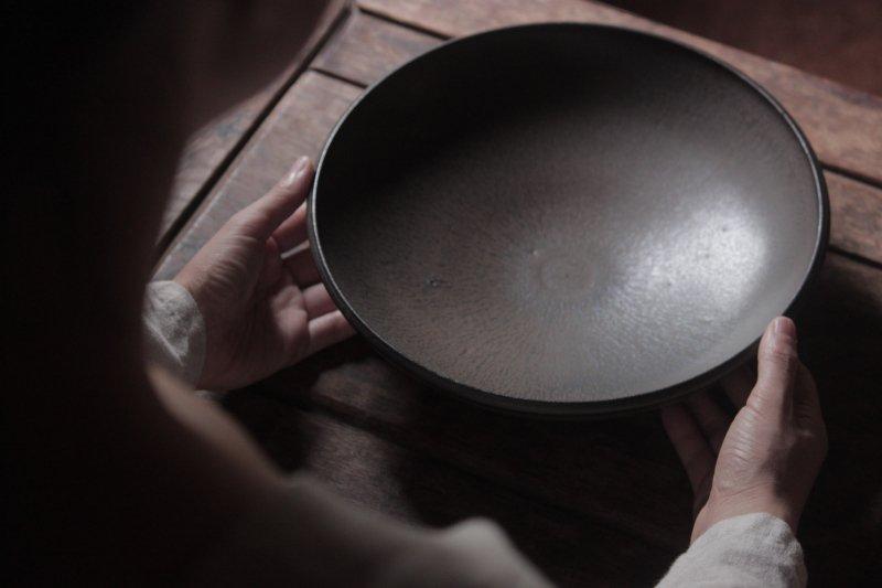 生形由香 印刻紋深皿