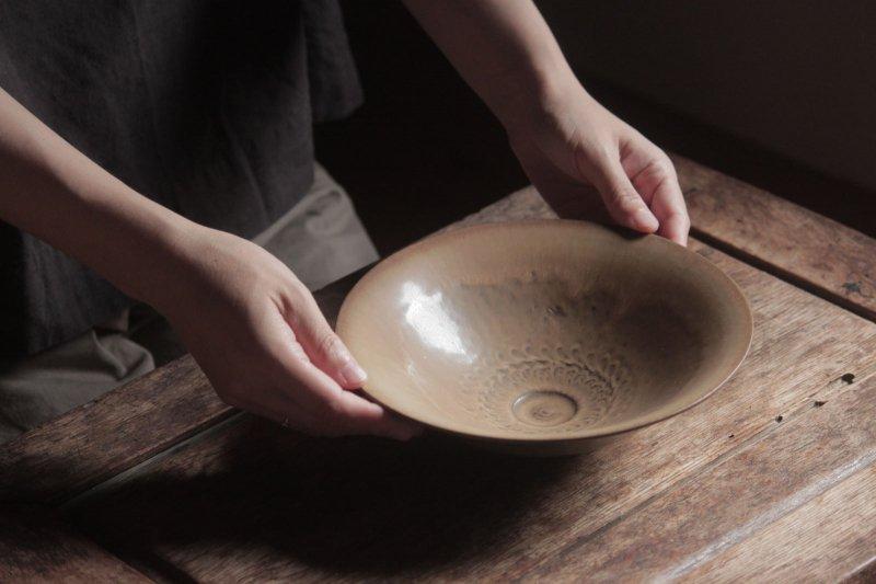 生形由香 印刻紋朝顔鉢-01