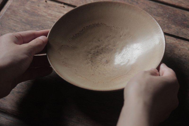 生形由香 印刻紋鉢 黄-01