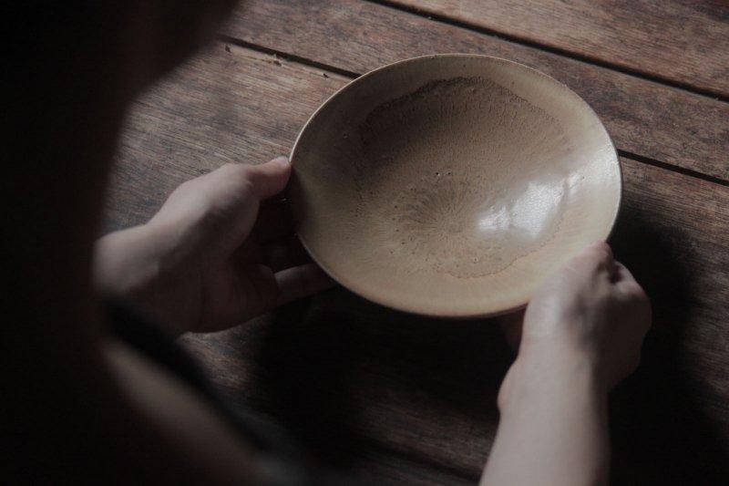 生形由香 印刻紋鉢 黄-07