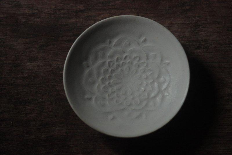 生形由香 刻紋小皿-06