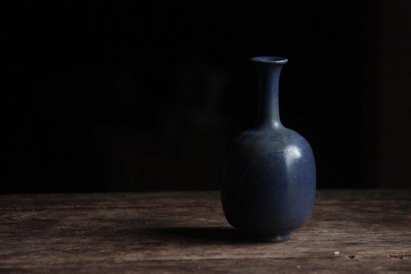 生形由香 青釉小瓶