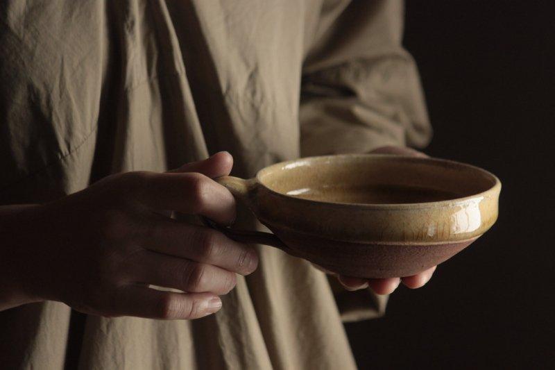 山田洋次 黄釉 スープカップ