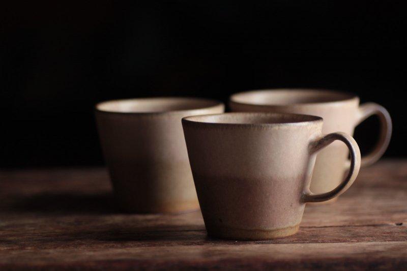 桑原哲夫 茶釉コーヒーカップ