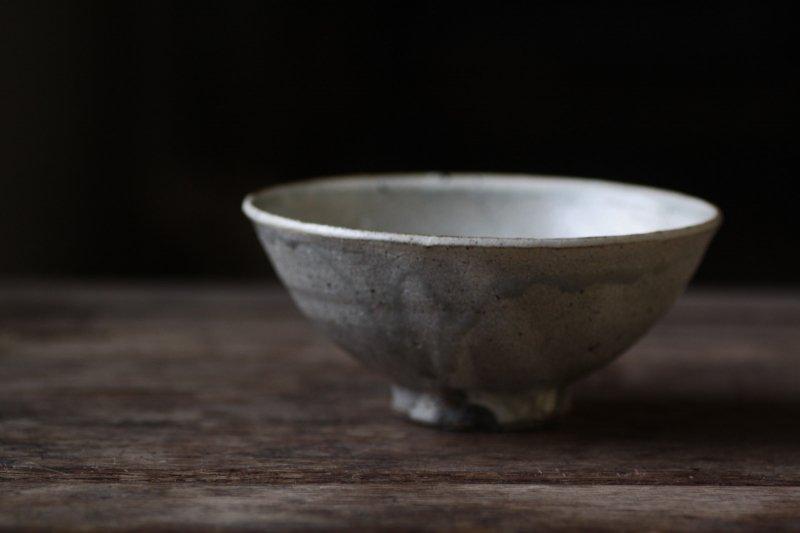 竹本ゆき子 ひび粉引飯碗-2