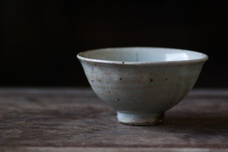 竹本ゆき子 藁白釉飯碗(小)