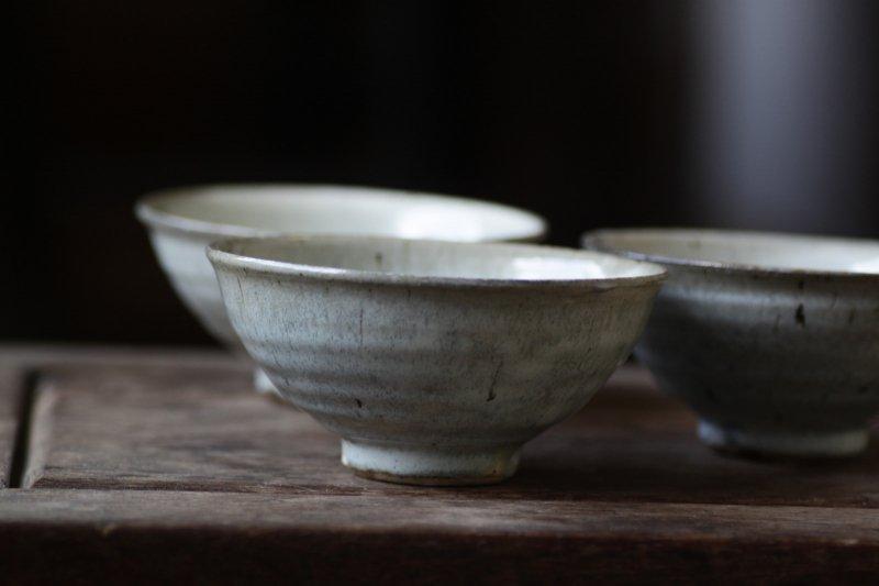 竹本ゆき子 藁白釉飯碗