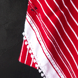 Striped  Apron 001