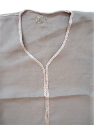 Linen kaftan-Taupe and Taupe border-