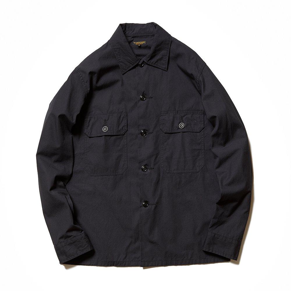Utility Shirt - 40/2×19/-Raffy Selvedge Poplin -【Lady's】