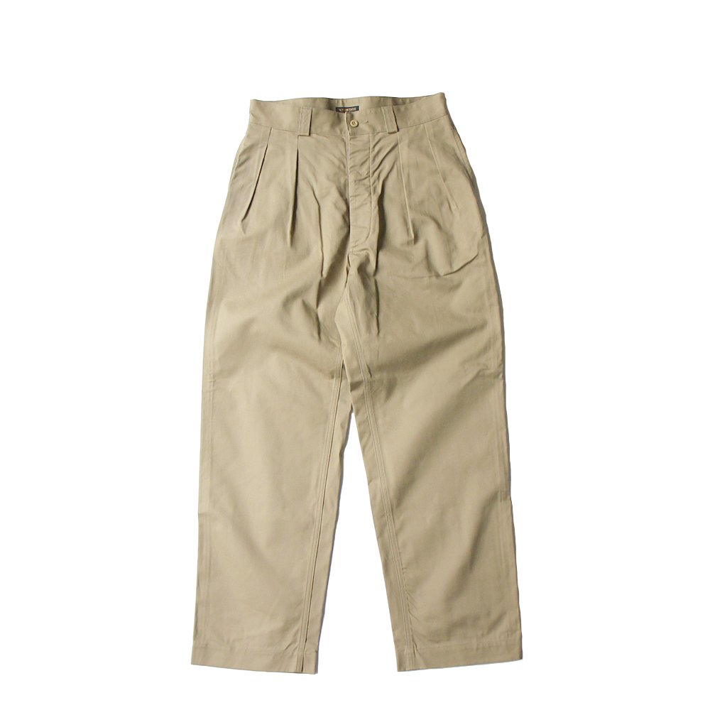 French Mil. 2Tuck Trousers -Classic Selvdge Twill-