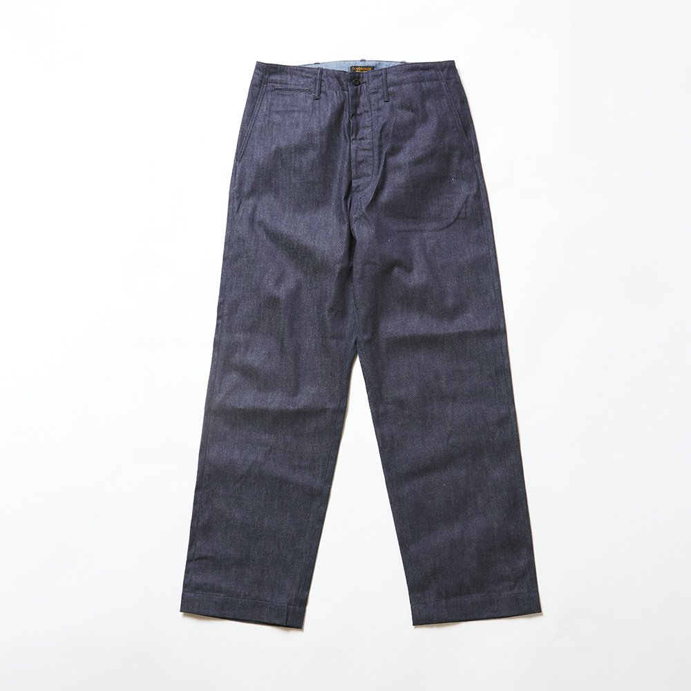 Type 45 Chino Trousers -Wide Fit- 9oz Selvdge Denim-